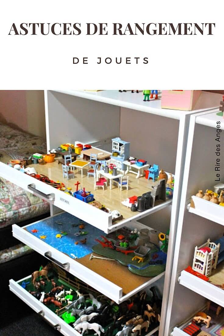 10 astuces de rangement de jouets diy le rire des anges. Black Bedroom Furniture Sets. Home Design Ideas