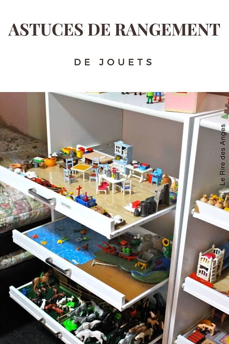 10 astuces de rangement de jouets diy le rire des anges. Black Bedroom Furniture Sets. Home Design Ideas