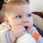 8 mois de ma fille, déjà 8 mois à quatre!